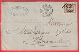 N°56 GC 6307 BORDEAUX LES CHARTRONS GIRONDE POUR BRUXELLES BELGIQUE 1875 - 1849-1876: Classic Period