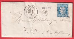 N°60 GC 1035 CIVRAY VIENNE OR DE VOULEME POUR EU SEINE INFERIEURE - 1849-1876: Classic Period