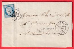 N°60 GC 537 BOUCHAIN NORD BOITE RURALE SUPPLEMENTAIRE E/2 DOUCHY POUR ST AMAND LES EAUX - 1849-1876: Classic Period