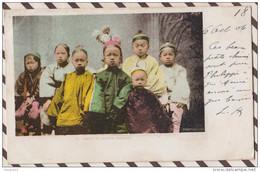 5AH2049 SAN FRANCISCO GROUP OF CHINESE CHILDREN   2 SCANS PRECURSEUR - San Francisco