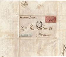 CTN70 - ITALIE LAC ALESSANDRIA D'EGITTO / MESSINA 9/3/1864 OBL. PIROSCAFI POSTALI FRANCESI - Marcophilie