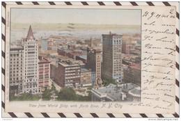 5AH2062 VIEW FROM WORLD BLDG WITH NORTH RIVER  NEW YORK 2 SCANS - Panoramische Zichten, Meerdere Zichten
