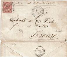 CTN70 - ITALIE DEVANT DE LETTRE ALESSANDRIA D'EGITTO 24/6/1872 - Marcophilie