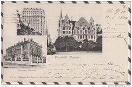 5AH2064 2 VUES VANDERBILT / CARNEGIE MANSION  NEW YORK CITY 2 SCANS - Panoramische Zichten, Meerdere Zichten