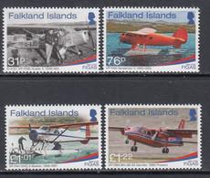 2018 Falkland Islands FIGAS Aviation Aircraft Complete Set Of 4 MNH @ Below Face Value - Falklandinseln