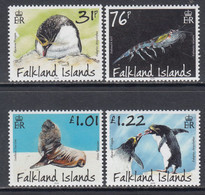 2018 Falkland Islands Fauna Penguins Seals Shrimp Complete Set Of 4 MNH @ Below Face Value - Falklandinseln