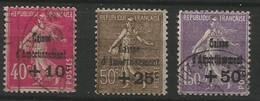 France . Y&T N° 266/268 Oblitérés - Au Profit De La Caisse D'Amotissement - Gebruikt
