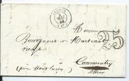 Lettre De Saumur Pour Commentry Allier  Taxée 25 - 1849-1876: Classic Period