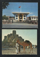OMAN Muscat Palace & Nakhi Fort 2 Picture Postcard - Oman
