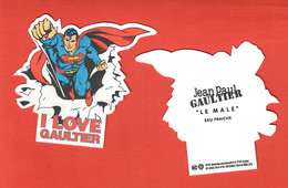 F- Carte à Sprayer  JP Gaultier -Le Male Eau Fraiche -     Perfume Card - Modern (from 1961)
