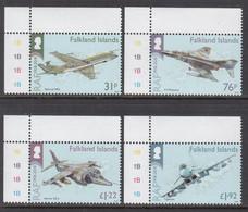 2018 Falkland Islands RAF Royal Air Force Military Aviation Aircraft Complete Set Of 4 MNH @ Below Face Value - Falklandinseln
