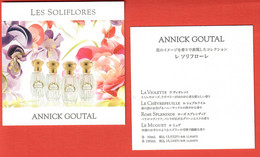 F- Carte à Sprayer  Annick Goutal - Les Soliflores -     Perfume Card - Japon - Modern (from 1961)