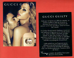 F- Carte  Gucci - Gucci Guilty -     Perfume Card - - Modern (from 1961)