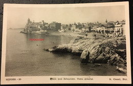 Sitges Barcelona  Playa De San Sebastian. Vista General.1950. - Barcelona