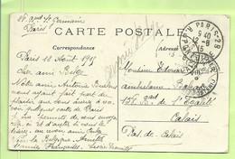 """Kaart Stempel PARIS Naar """"Ambulancier Calais"""", Stempel PMB Op 13/8/15 (3574) - Esercito Belga"""