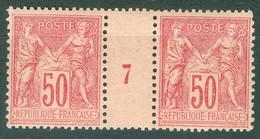 France  Yvert  98 En Paire Millésimé  1897  *  TB - Millesimes