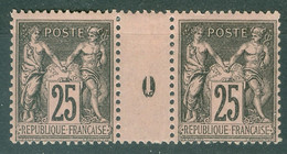 France  Yvert  97 En Paire Millésimé  1900  *   TB - Millesimes