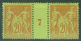 France  Yvert  96 En Paire Millésimé  1897  *   TB - Millesimes