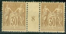 France  Yvert  80 En Paire Millésimé  1898  * / * *   TB - Millesimes