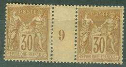 France  Yvert  80 En Paire Millésimé  1899  * / * *   TB - Millesimes