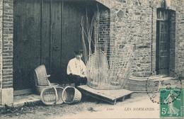 Les Normands - Le Vannier - édit MP N° 1100 Circulée Cachet Perlé Le Desert (50 Manche) 1908 - Altri Comuni