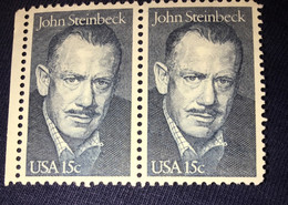 See Photos. US Scott 1773 - Block Of 2- John Steinbeck 15 Cent - Mint Never Hinged - Nuevos