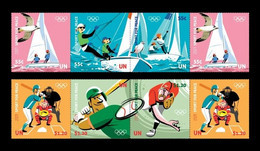 United Nations (New York) 2021 Mih. 1796/801 Sport For Peace. Olympic Games In Tokyo. Sailing. Baseball MNH ** - Neufs
