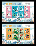 United Nations (New York) 2021 Mih. 1796/801 Sport For Peace. Olympic Games In Tokyo. Sailing. Baseball (2 M/S) MNH ** - Neufs