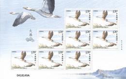 China 2018, Bird, Birds, Swan Goose, Sheetlet Of 8v, MNH** - Geese