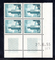 MAROC YT-N°: 353 - Minaret De Chella, Coin Daté Du 21.06.1955, 1er Tirage, NSC/**/MNH - Ungebraucht