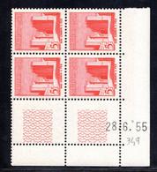 MAROC YT-N°: 349 - Bab-el-Chorfa, Coin Daté Du 28.06.1955, 1er Tirage, NSC/**/MNH - Ungebraucht
