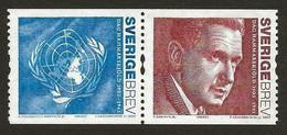 2005Sweden2466-2467PaarDag Hammarskjold UN Secretary General - Neufs