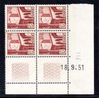MAROC YT-N°: 311 - Pointe De Oudayas, Coin Daté Du 18.09.1951, 1er Tirage, Voir Description - Ongebruikt