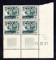 MAROC YT-N°: 283 - Jardins à Meknès, Coin Daté Du 12.12.1951, 4e Tirage, Voir Description - Ongebruikt