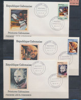 GABON 1995 PAINTINGS ART FDC - Gabon (1960-...)