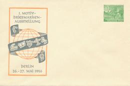 BERLIN   -  1956  ,  10 Pf. Bauten  Kolonnaden  ,  1. Motiv-Briefmarken ...  -  Privatumschlag  -  PU4 / 3b Mit Wz - Privatumschläge - Ungebraucht