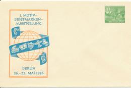 BERLIN   -  1956  ,  10 Pf. Bauten  Kolonnaden  ,  1. Motiv-Briefmarken ...  -  Privatumschlag  -  PU4 / 3d - Privatumschläge - Ungebraucht