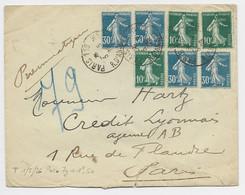 SEMEUSE 30CX3+10CX3 PNEUMATIQUE PARIS 3.5.1925 AU TARIF - 1906-38 Sower - Cameo