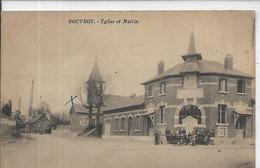 80, Somme, ROUVROY 172 Habitants, Eglise Et Mairie Animée, Scan Recto-Verso - Other Municipalities