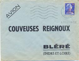 REUNION ST PIERRE OMec SECAP FG 5.L.O. M Du 8-11-1958 MARIANNE DE MULLER (1011B) 10 F..s. 20 F. YT 337 - Covers & Documents