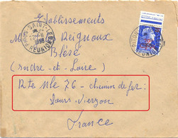 REUNION PITON-SAINT-LEU TàD Du 2211-1958 MARIANNE DE MULLER (1011B) 10 F..s. 20 F. YT 337 – ADRESSE AVEC PRÉCISIONS ! - Covers & Documents
