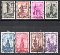 Belgique N° 519 à 526 Oblitérés - Beffrois Divers - Au Profit Des Oeuvres Antituberculeuses - Used Stamps