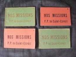 Cpa Mission Afrique Carnet Nos Missions P.P. Du Saint-Esprit Lot De 4 Carnets Complets Cameroun Sierra Leone Gabon Congo - Misiones