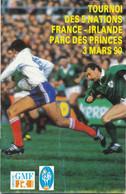 Livret Programme Rugby - Tournoi Des 5 Nations 1990 - FRANCE / IRLANDE - Parc Des Princes - Rugby