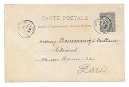REUNION Carte-postale (Entier 10c. N°36 Imprimé) TàD St-DENIS 16 SEPT. 98 Adressée à Paris; Superbe état - Covers & Documents