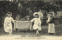 LES WEBERTY  ACROBATES FANTASTIQUES MARVEILLEUX (Enfants) RV - Circo
