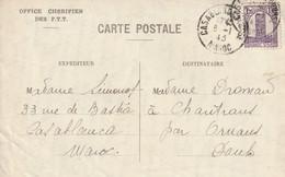 Maroc Carte Casablanca Pour La France 1945 - Covers & Documents