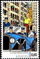 Timbre Privé** - Tintin Et Milou Saluant La Foule En Amérique / Kuifje En Bobbie Zwaaien Naar De Menigte In Amerika - Autres