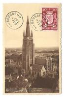 N°717 - 20c.. Armoirie Luxembourg Obl. Sc BRUGGE 1sur C.P. Maximum Du 5-VIII-1946 Vers Brugge. - W1206 - Covers & Documents