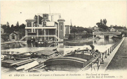 ARQUES  Le Canal D'Arques Et L'Ascenseur De Fontinette Péniches Batellerie RV - Arques